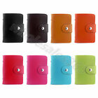 Card Holder Pocket Case PU Leather IC ID Business Credit Card Storage Bag Wallet