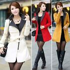 2014 fashion coats Women's warm coat Wool Blend Trench Belted Long Jacket ItS7