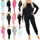 New Womens Ladies Plain Jogging Bottoms Joggers Trousers Tracksuit Size 8 10 12