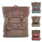 NEW Canvas and Leather Satchel Type Backpack Messenger Holdall School Camera Bag