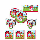 Farm House Fun Boys Girls Essential 2nd Birthday Party Kits, 8 - 40 Available!