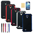 NEW Hybrid Impact Hard Soft Black Case Cover for SAMSUNG GALAXY S IV S4 i9500