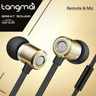 Genuine TANGMAI Super Bass Noise Isolating Headset Earbuds Earphone Remote & Mic