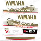 Yamaha 150hp OX66 Saltwater Series II Outboard Decals for Fuel Injected Engines