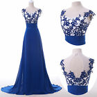 2015 New Applique Long Pageant Evening Prom Ball Formal Party Gown Wedding Dress