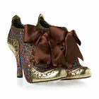 IRREGULAR CHOICE ABIGAILS PARTY GOLD ANKLE BOOTS SHOES