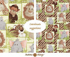 JUNGLE BABIES Green New Patch or Scattered Patch Cotton Fabric U Choose