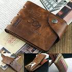 Fashion Mens Genuine Leather Bifold Wallet Credit ID Card Holder Slim Coin Purse
