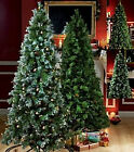4ft 5ft 6ft 7ft PINE CONE & BERRIES GREEN OR FROSTED CHRISTMAS TREE SPRUCE