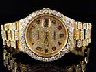 18k Yellow Gold Mens Rolex Presidential Day-Date Diamond Bezel Watch 19 Ct