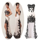 XMAS GIFT   High-Low Lace Vintage Masquerade Evening Party Prom Ball Gowns Dress
