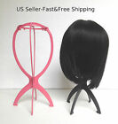 Folding Wig Stand Hair Hat Cap Holder Mannequin Stable Durable Portable Display