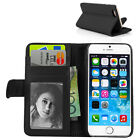 Black Folio Wallet Stand PU leather Case Cover/Card Holder for iPhone 6 Plus 5.5