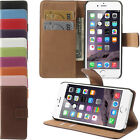 Premium Apple iPhone 6 Buch Stile Ledertasche Handy Case Hülle Etui Flip Cover