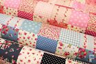 100% COTTON POPLIN PRINT FABRIC - PATCHWORK DESIGN