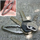 STAINLESS STEEL OR TITANIUM KEYCHAIN HOLDER PRY BAR WRENCH SCREWDRIVER MULTITOOL
