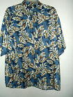 NEW BLUE WHITE JUNGLE HAWAIIAN SHIRT by PURITAN size 2X