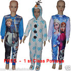 DISNEY Kids Girls OLAF FROZEN Anna Elsa Boys Pyjamas  Sleepsuit  All in one BNWT