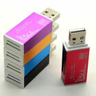 1x pcs USB 4 in 1 Card Reader Adapter SD MMC RS MMC mini SD Micro SD Flash NEW