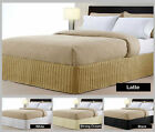 Quilted Valance / Bedskirt - White Cream Latte Black - SINGLE DOUBLE KING