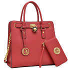 New Dasein Womens Handbags Faux Leather Business Briefcase Laptop Bags Purse