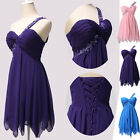 GK Short Chiffon Formal Evening Dress Ball Gown Prom Bridesmaid Party Plus Size