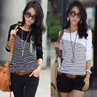 Fashion New Womens Ladies Striped Tops Slim Long Sleeve T-Shirt Casual Blouse IT