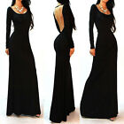 2015~VINTAGE Women Long Sleeve SEXY Backless Evening Prom Formal Dress Plus Size