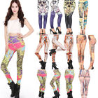 2015 Different Patterned Women Fashion Sexy Stretch Leggings Tights Skinny Pants