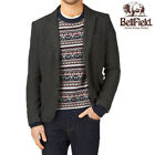 Mens Tweed Blazer Bellfield Casual Formal Wool Designer 2 Button Jacket Top