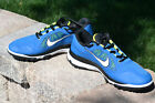 Nike FI Impact Golf Shoes Military Blue White Venom Green  NEW 6115