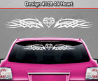 Design #128-05 HEART Tribal Celtic Knot Windshield Decal Window Sticker Graphic