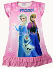 Disney Frozen Elsa Anna Olaf Children Kids Girls Dress Pajama Nightgown 3-9 Pink