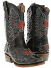 kids girls toddlers black cowgirl boots leather western c...