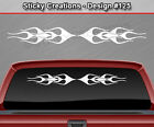 Design #125 Flame Flaming Windshield Decal Window Sticker Vinyl Graphic Banner