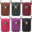 New Women Ladies PU Leather Shoulder Cross by Bag Pouch Case Cover 16.5*11cm V