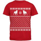 Pug Ugly Christmas Sweater Red Youth T-Shirt Top