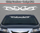Design #136 Tribal Curls Windshield Decal Back Window Sticker Vinyl Graphic Car