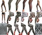 FISHNET FLORAL LACE NET FULL ANKLE LENGTH FASHION FOOTLESS TIGHTS ONE SIZE NEW