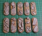 70mm Slate scenic Bike bases, Qty 5-25 unpainted sci-fi by Daemonscape