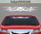 Design #155-02 SKULL Tribal Flame Windshield Decal Window Sticker Vinyl Graphic