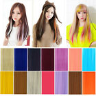 Multi-Color Women Long Straight Synthetic Clip in on Hair Extensions Piece high*