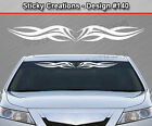 Design #140 Tribal Swoosh Windshield Decal Back Window Sticker Graphic Banner