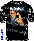 We Can Do It T-Shirt -retro kitsch vintage roller derby emo rockabilly b021