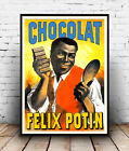Chocolat Felix Potin,  vintage Chocolate advertising poster reproduction.