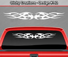 Design #143 Tribal Flame Windshield Decal Back Window Sticker Vinyl Graphic Car