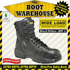 """WIDE LOAD (BW1)  'EXTRA WIDE'  8"""" Zip Side Work Boots.  Composite Toe Safety."""