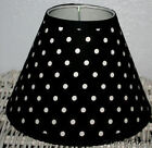 Black and White Polka Dot Kids LampShade ~ Choose Trim