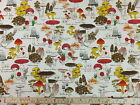 CT Fungi Wild Mushrooms - Japanese 100% Cotton Oxford Canvas Fabric