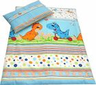 2 Piece Bedding PILLOWCASE + DUVET COVER - Baby Toddler to fit Crib/Cot/Cot Bed <br/> 70x80cm, 90x120cm, 100x135cm, IKEA110x125cm, 120x150cm